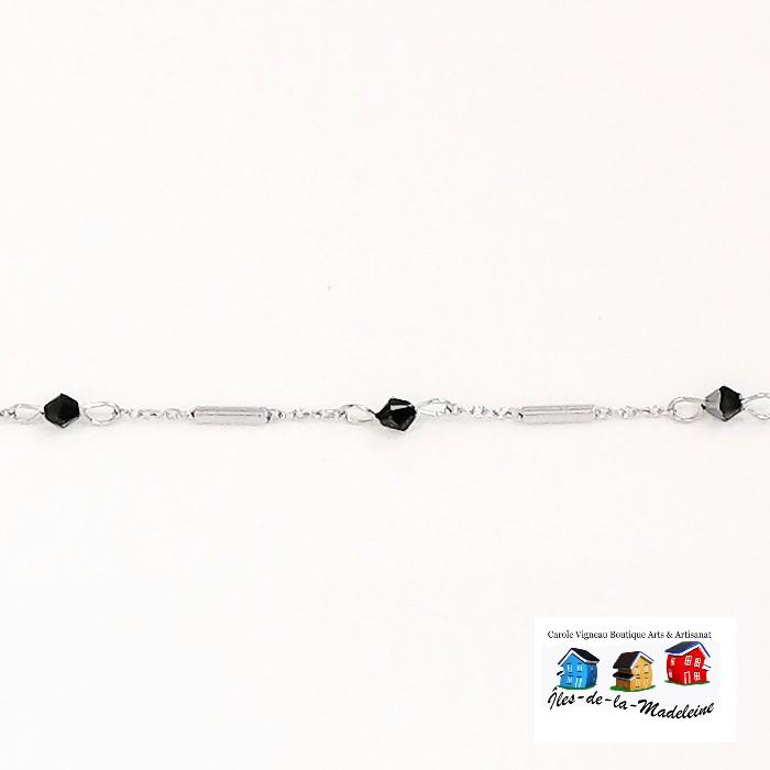 Bracelet Chaîne et cristaux