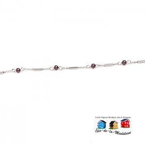 Bracelet Chaîne et perles de verre