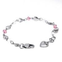 Bracelet Cœurs et cristaux