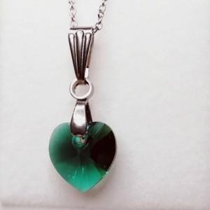 Petit Cœur vert émeraude.