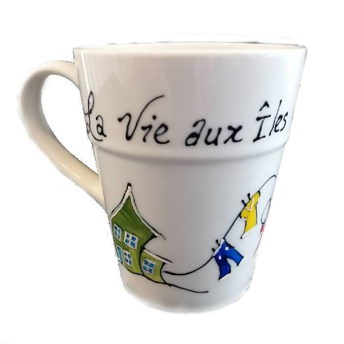 Vaisselle peinte à la main, Signée par l'artiste Carole Vigneau